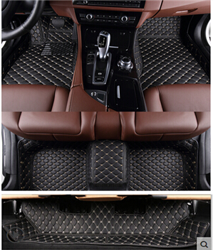High quality! Custom special floor mats for New Land Rover Discovery 5 7seats 2017 waterproof durable foot carpets,Free shipping