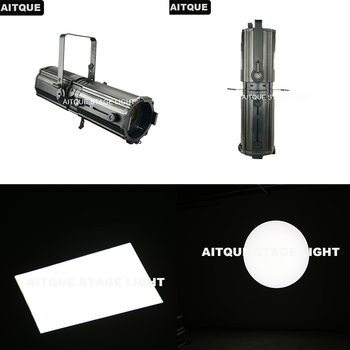 (4 lot/cas) professionnel studio photographie led spot de fresnel 200 w photo studio led lumière 300 w profil led spot zoom étui de vol
