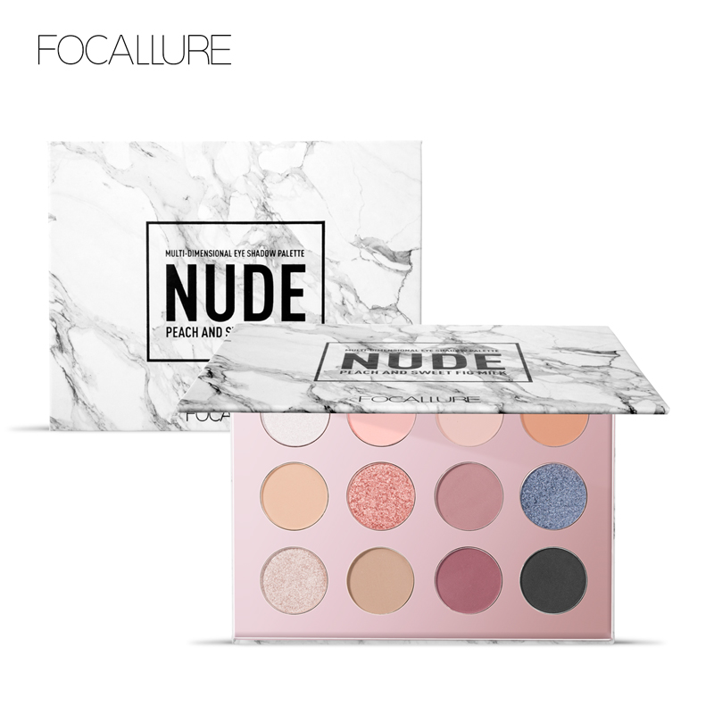 FOCALLURE 12 COLOR Eyeshadow palette Glitter Shimmer eye makeup set Professional eye shadow make set eye makeup cosmetic in Eye Shadow from Beauty Health