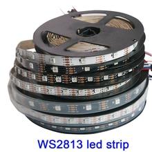 Dual-signal WS2813 led pixel strip;1m/3m/5m; 30/60/144 pixels/leds/m,WS2812B Updated,DC5V,IP30/IP65/IP67,Black/White PCB ws2813 led pixel strip 1m 4m 5m dual signal 30 60 144 pixels leds m ws2812b updated black white pcb ip30 ip65 ip67 dc5v