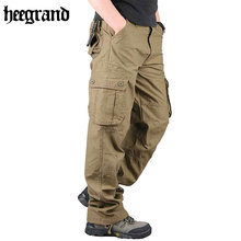HEE GRAND 2017  Pants Man Cargo Pants Pockets Trousers Army Pantalon Homme Loose Climb Pants MKX579