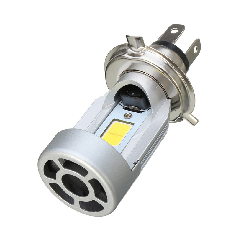 Led Spotlight Headlamp: H4 COB 20W Motorcycle Headlight LED Spotlight 2200LM 6000K