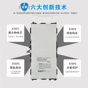 ISUN Battery for Samsung Galaxy Note 10.1 2014 Edition P601 P600 T8220U T8220E 8220mAh Battery with repair tools image