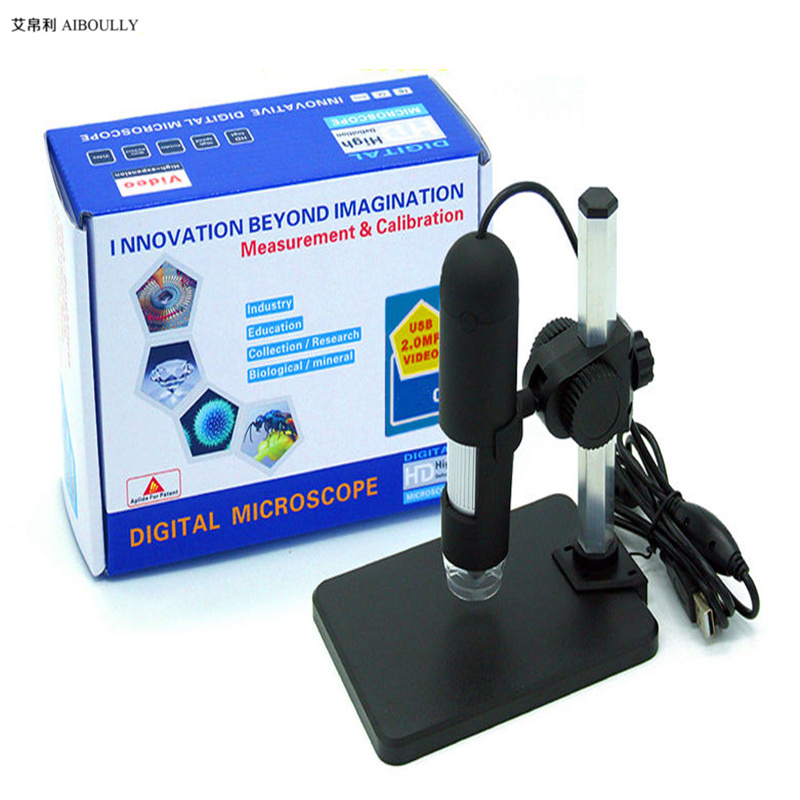AIBOULLY F7 1-500X <font><b>USB</b></font> Electron <font><b>Microscope</b></font> Video Magnifier PCB Inspection Tool Video Endoscope Handheld <font><b>Microscope</b></font> Repair Tool image
