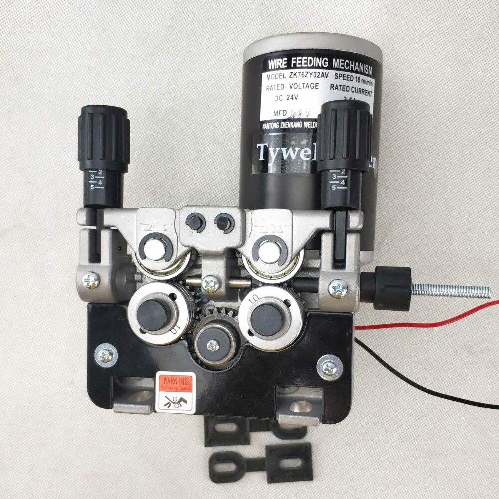 76ZY 02AV Mig Wire Feeder Motor Feeding Machine DC24 1 0 1 2mm for MIG MAG