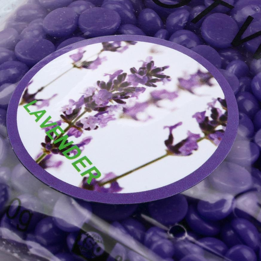 New 1 Bag 100g No Strip Depilatory Hot Film Hard Wax Pellet Waxing Bikini Hair Removal Bean Lavender For Dropshipping
