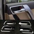 2016 ABS 8 шт./компл. стайлинга автомобилей автомобилей внутренняя дверная ручка блестки для Toyota Prado 2010 - 2016 автоаксессуары украшения блестками