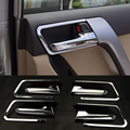 2016 ABS 8 unids/set Car Styling Car puerta interior mango lentejuelas caja para Toyota Prado 2010-2016 accesorios del coche decoración lentejuelas