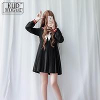 Japanese Long sleeved Soft Sister Clothes Cute Gold Line Navy Collar Sailor Suit Jk Uniform Dress Christmas Bell Autumn Winter