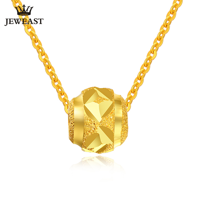 24K Pure Gold Pendant Real AU 999 Solid Gold Charm Nice Lucky Beads Upscale Trendy Classic Party Fine Jewelry Hot Sell New 2018
