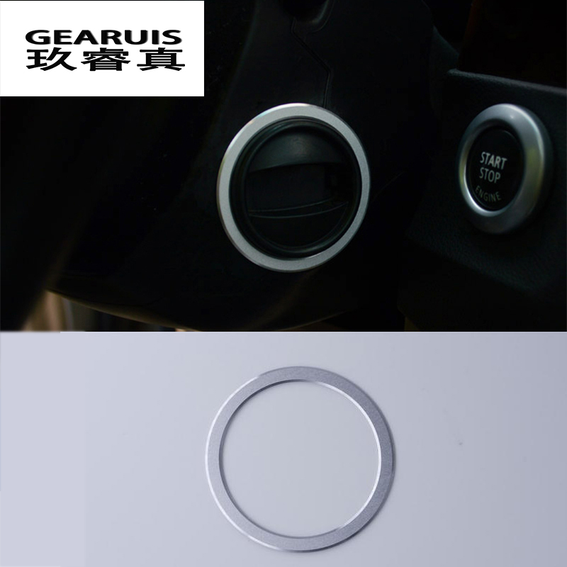 Car styling keyhole decorative frame trim stainless steel Interior Covers stickers strip For BMW 5 series E60 auto Accessories