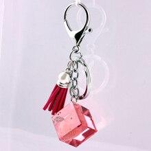Liga de Zinco de Cristal de vidro Moda Coreana Fivela Acessórios Do Carro chaveiro em lote conjunto da cadeia de moda chave da cadeia de telefone Móvel 10