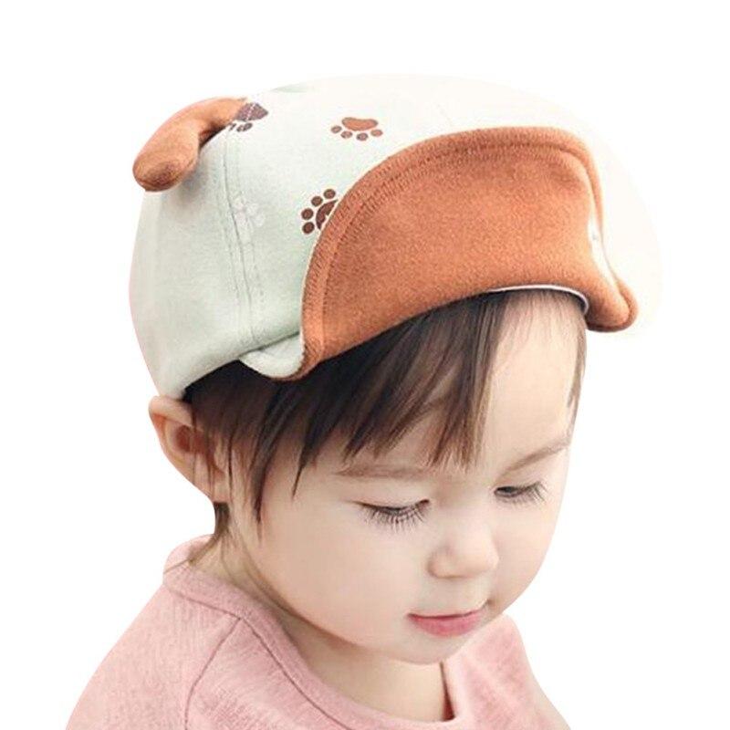 Baby Adjustable Baseball Cap Children Kids Boys Girls Spring Summer Little Ear Printed Cotton Blends Sun Hat 1-18M