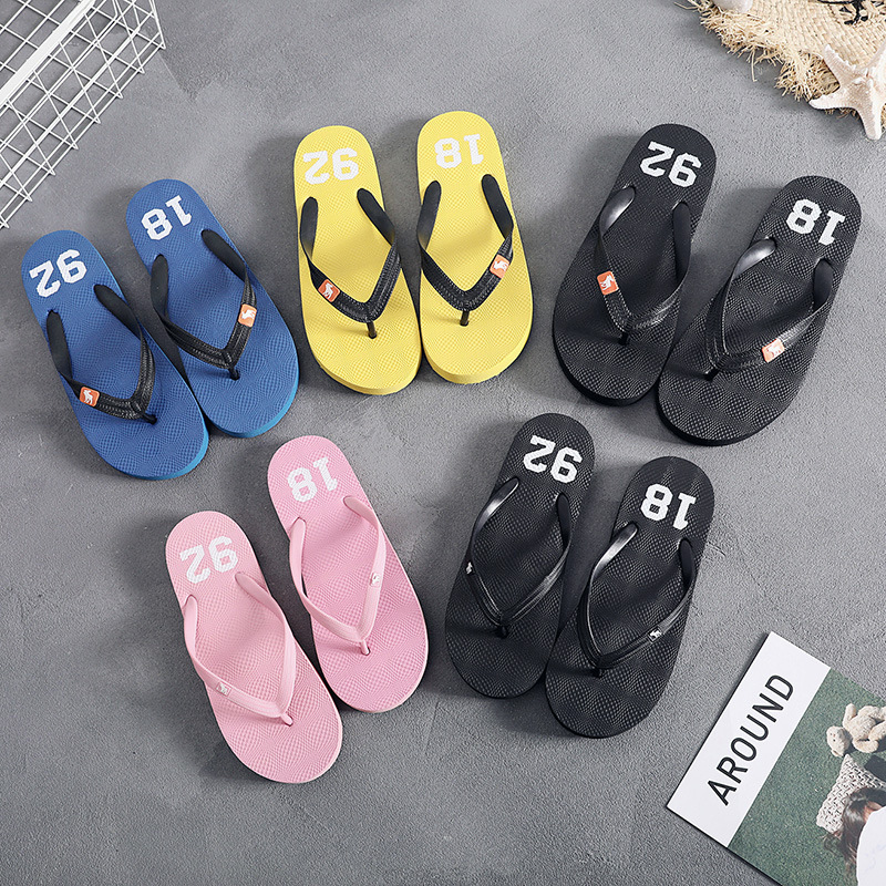 Lovers, Men And Women, Payers, Slippers, Summer Korean Version, Men, Beach Men, Cool Slippers, Students, Non-slip Clips.