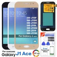 Super Amoled для Samsung Galaxy J1 Ace J110 SM-J110F J110H ЖК-дисплей Дисплей Сенсорный экран планшета Ассамблеи яркость можно настраивать