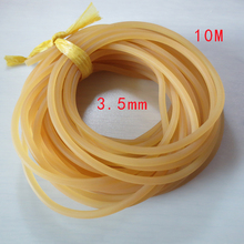 10Meters Good High quality Elastic Stable Rubber Band Rope-missed pole Retaining pole Fishing line diameter 3.5mm 4mm