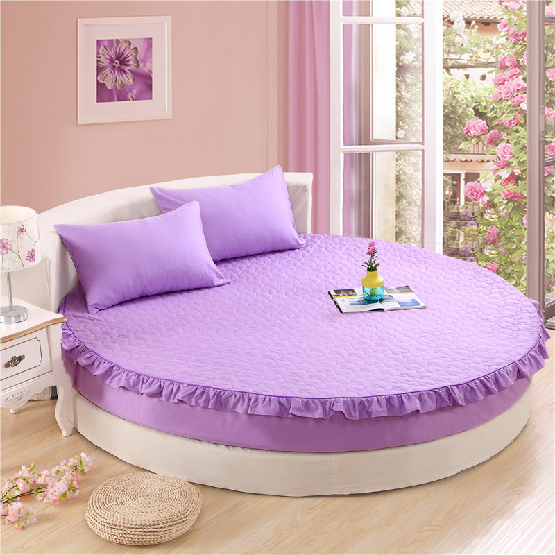 200*200cm and 220*220cm Round Bed Mattress Cover Thick Bed Protective Case Fitted Sheet with Elastic Rubber Bed Sheet