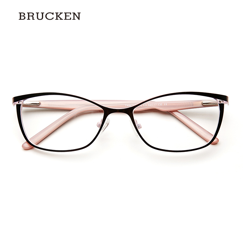 b73df6b2d8 Metal Glasses Frame Women Brand Designer Female Vintage Cat Eye  Prescription Eyeglasses Pink Full Myopia Optical Frames Eye-in Eyewear  Frames from Apparel ...