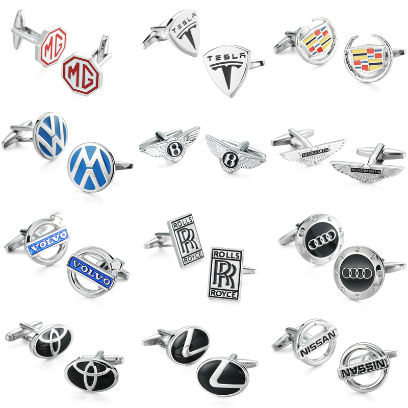 WN hot sale! Audi Volkswagen luxury car logo cufflinks high quality copper, mens French shirt cuff links wholesale and retail