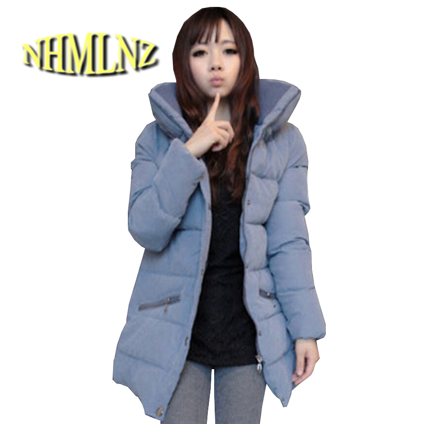 Latest Winter Fashion Women Winter jacket Thick stand collar super warm cotton coat Women Big yards slim medium long coat G2002
