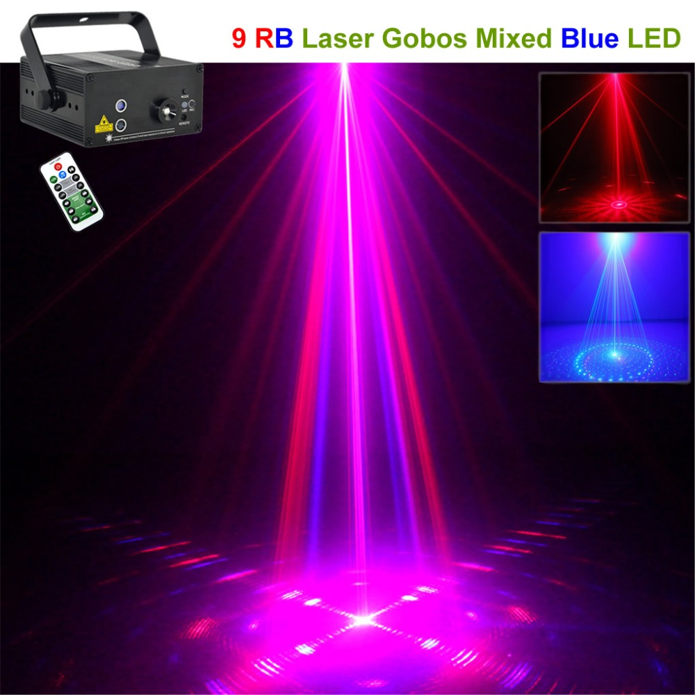 Mini 9 RB Red Blue Patterns Laser Projector Lights 3W Blue LED Mixing Effect DJ Party KTV Wedding Home Show Stage Lighting 09RB origianl clevo 6 87 n350s 4d7 6 87 n350s 4d8 n350bat 6 n350bat 9 laptop battery