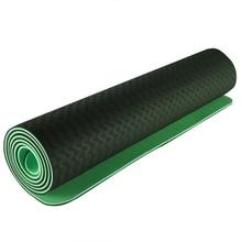 лучшая цена 6Mm Tpe Yoga Mat Environmental Protection Anti-Skid Widening And Thickening Beginners Fitness Mat Yoga Mat
