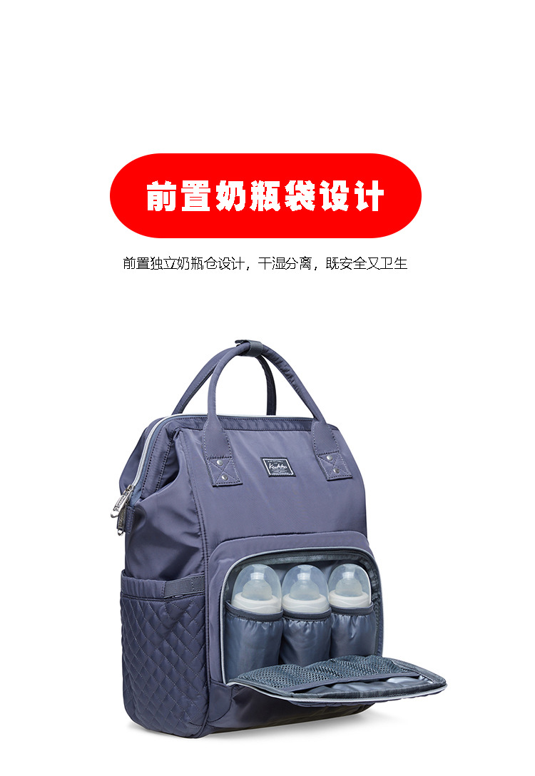 2019 new fashion Diaper bag multi-function Mummy Maternity Nappy Bag Brand Large Capacity Travel Backpack Designer (3)