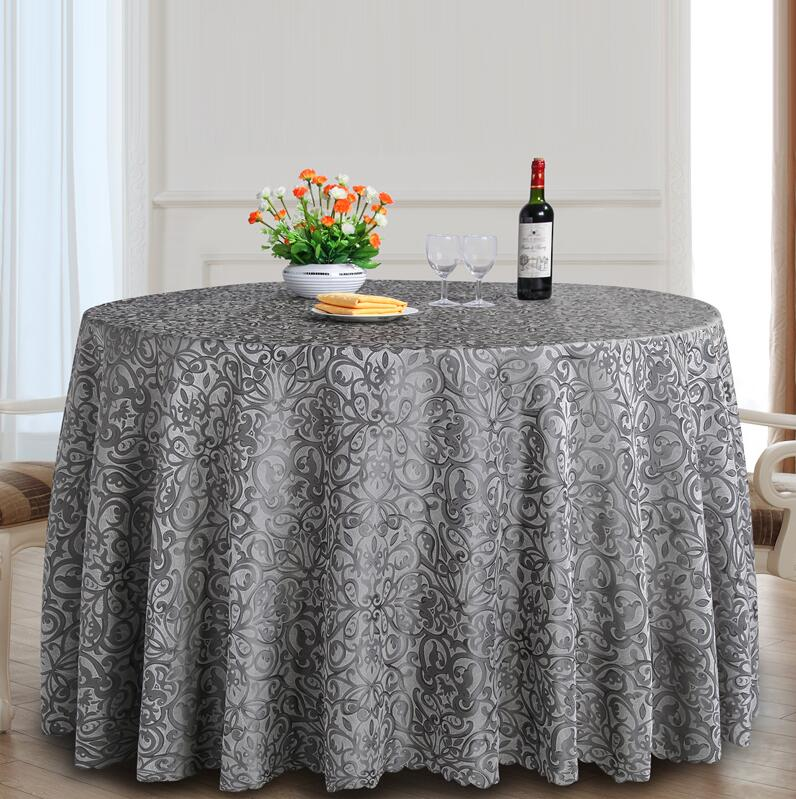 Classic Jacquard Round Table Cloth Polyester Fabric Square
