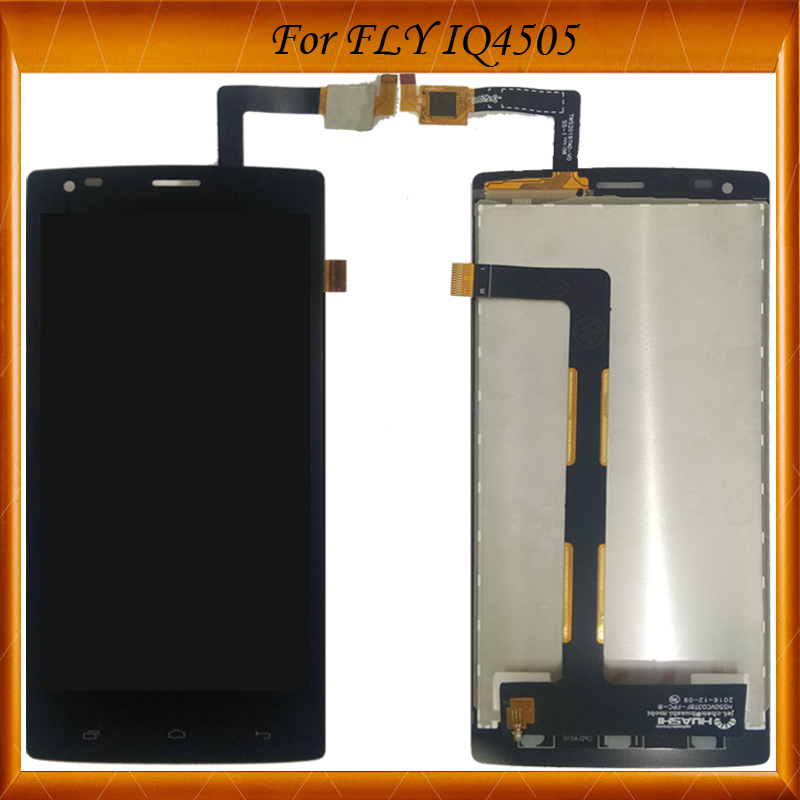 100% Tested OK For FLY IQ4505 Quad Era Life 7 IQ 4505 LCD Display+Touch Screen Digitizer Assembly High Quality Black Color