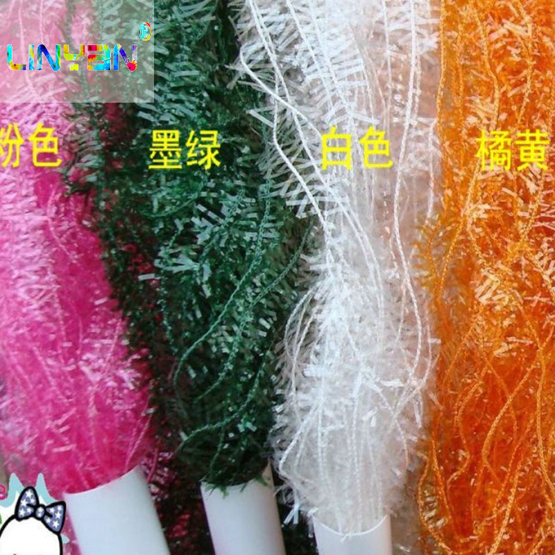 Apparel Sewing & Fabric Disciplined Popular Sequined 200 Meter/lot Fashion Hand Crochet Knitting Yarn For Knitting Wholesale Weave Knitting Iridescent Threat T50 Smoothing Circulation And Stopping Pains Arts,crafts & Sewing
