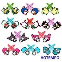 Япония Kawai мультфильм Keroppi Kuromi Мелодия пурин Pochacco Maru Sam LittleTwinStars милые шпильки для волос для девочек зажим для девочек подарок