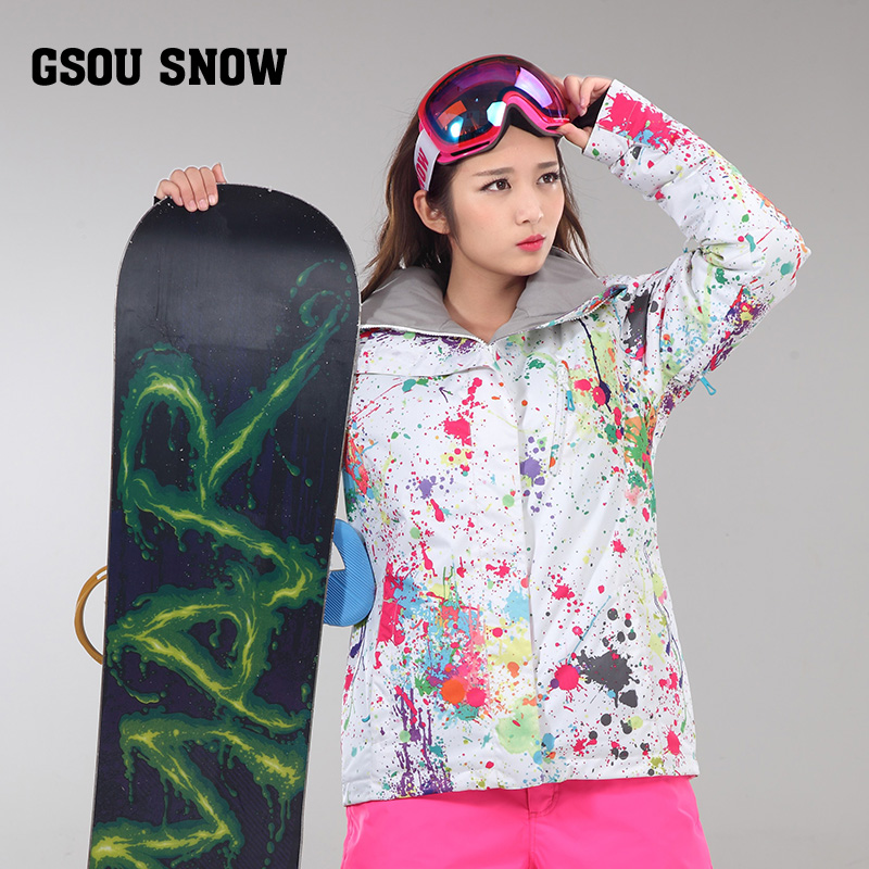 Gsou Snow Winter ski snowboard jackets womens snow suits veste tenue de ski femme mountain skiing clothing