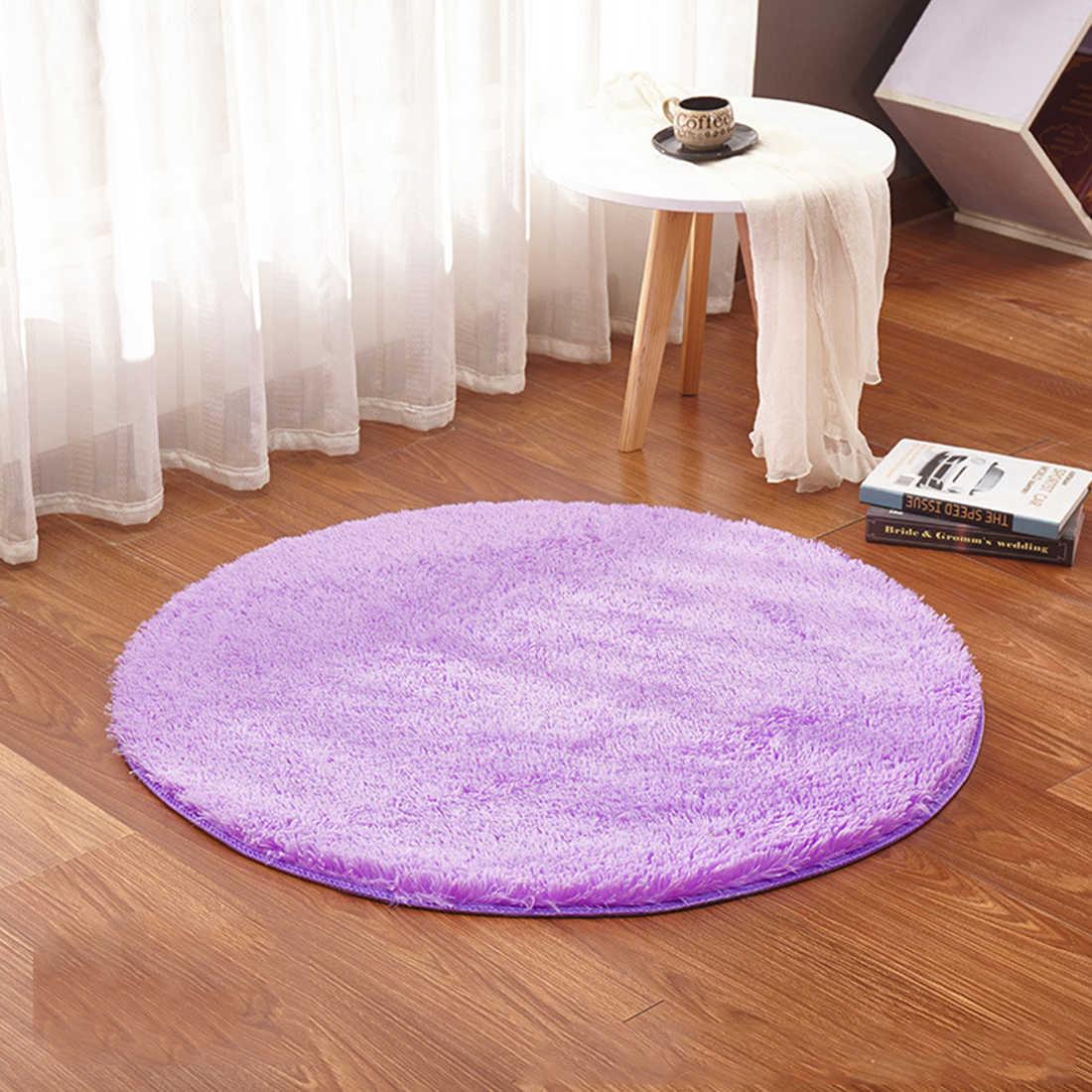 Многоцветный мягкий ворсистый круглый ковер для гостиной, спальни, коврик для пола, ковер диаметром 30 см-160 см, украшение для дома