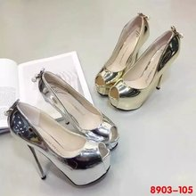 14cm super high heels nightclub waterproof shoes women fine with 16 new gold silver sequins shoes