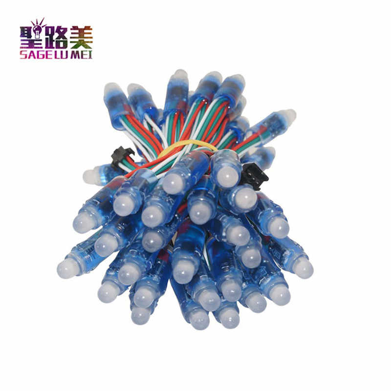 50 Pcs 12 Mm WS2811 Penuh Warna LED Lampu Pixel Modul DC 5 V Input IP68 Tahan Air Warna RGB 2811 IC Digital Lampu Natal LED