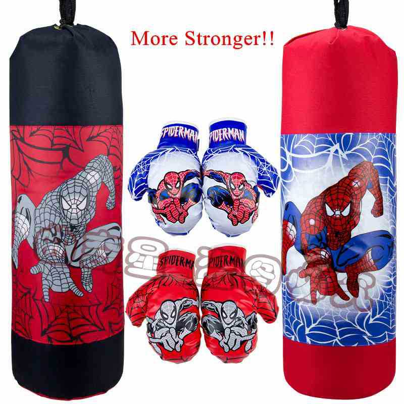 New Children Kids Canvas Spider Man Boxing Punching Bag Empty And Gloves Set On Aliexpress Alibaba Group
