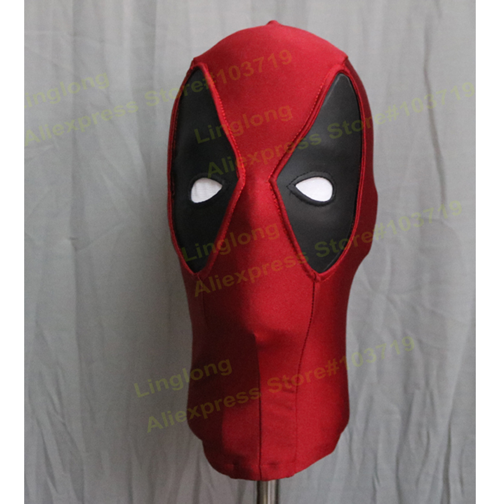 Hero Catcher  High Quality Custom Made Hero Deadpool Cosplay Face Mask Red Spandex Mask