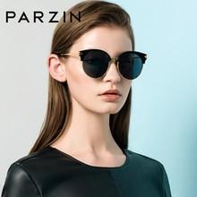 PARZIN Brand Vintage Round Women Sunglasses Luxury Designer Real Polarized For Driving Eyeglasses Free Exquisite Box