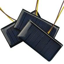 Солнечная батарея 5В 60MA поликристаллические солнечные батареи панель для зарядки 3,6 V/3,7 V Батарея DIY солнечный светильник на солнечной батарее игрушки и т. д