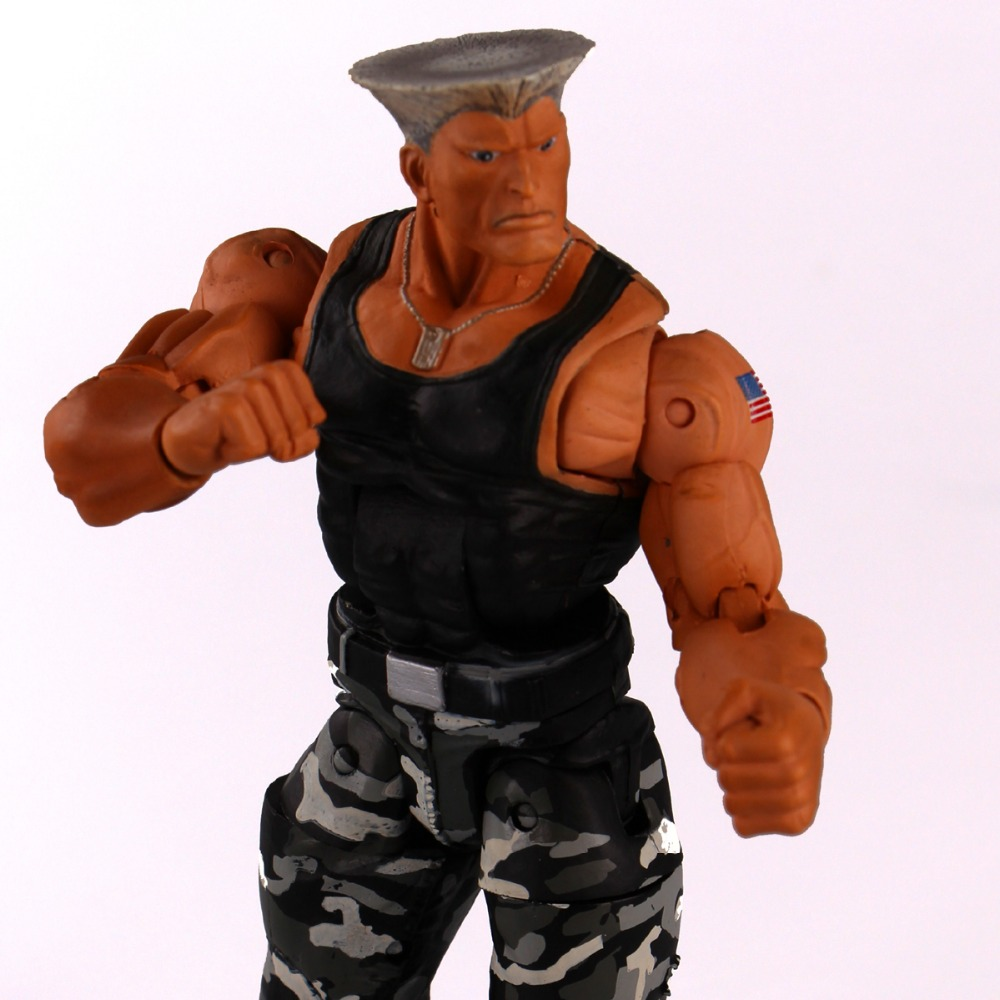 NECA Player Select Street Fighter IV Survival Model Guile Action Figure Toys game model 7 18cm