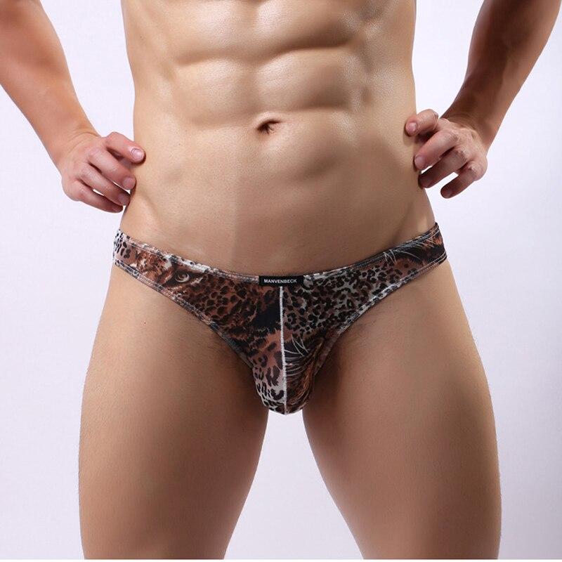 9b3b11a35ca6 Fashion Mens Leopard Printing Briefs Male Sexy Low rise Comfy Underpants  Bikini Cool Shorts U Convex Underwears Man Panties-in Briefs from Underwear  ...