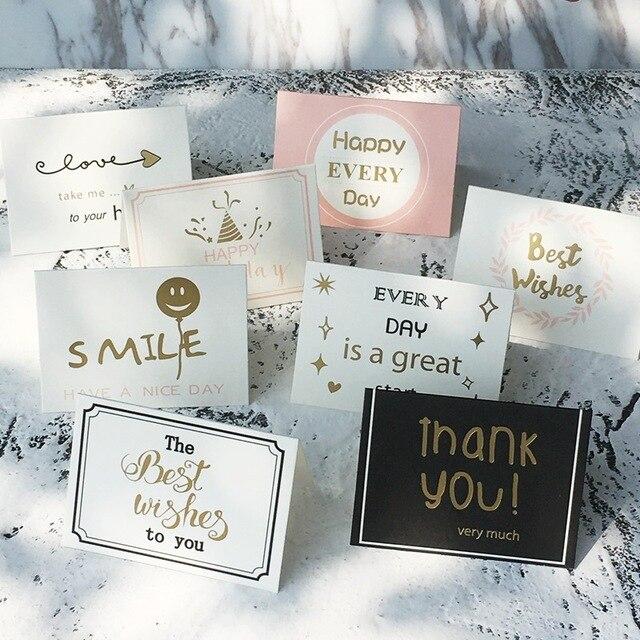 1pcs 95x7cm Mini DIY Paper Blank Card DIY Graffiti Word Cards Gift