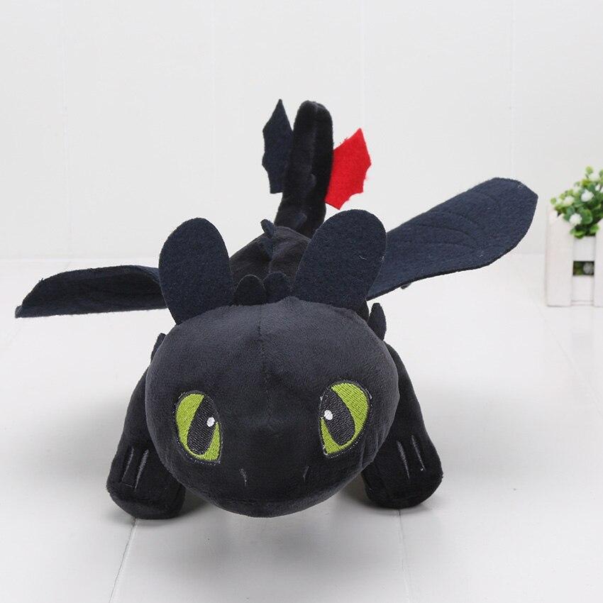 13 33cm 10pcs lot Anime Cartoon How to Train Your Dragon Toothless Night Fury Plush Toy