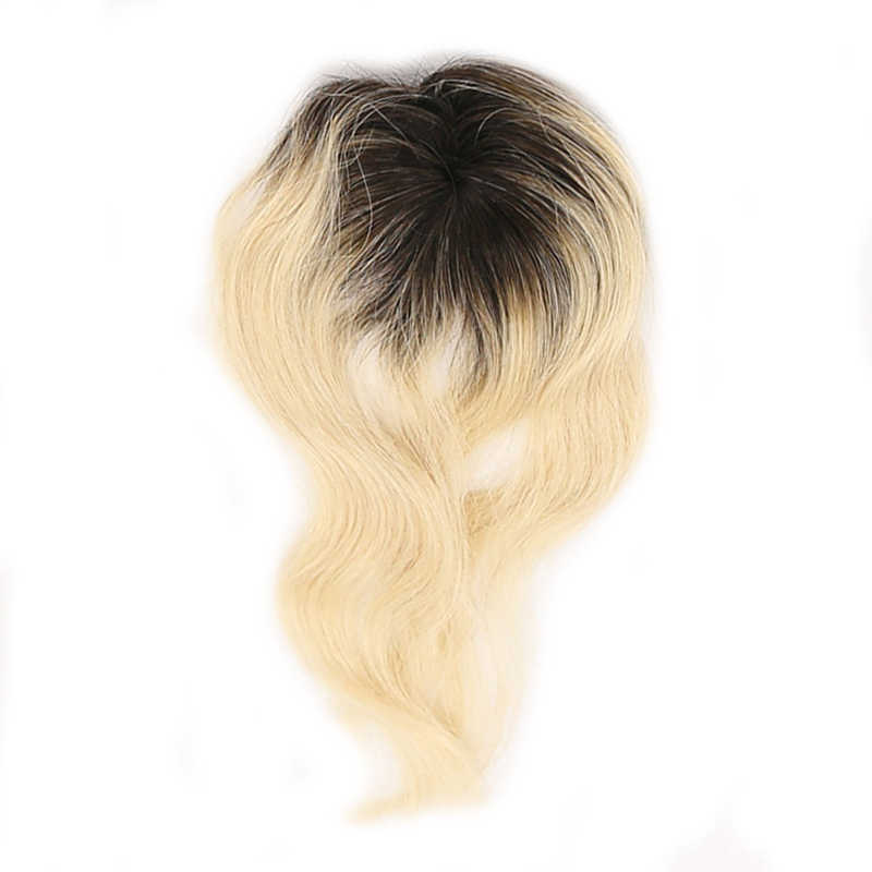 X-TRESS перуанские натуральные волнистые человеческие волосы плетение 6 пучков с закрытием Омбре черный блонд 613 цветов не Реми пряди волос на сетке