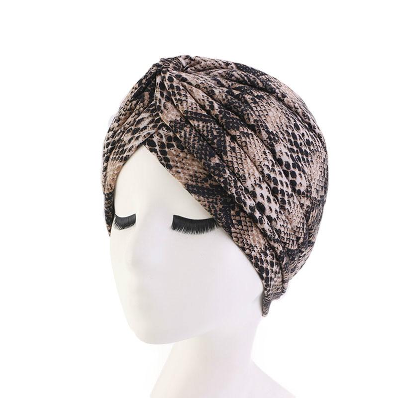Muslim Cotton Folding Stretch Turban Ruffle Hair Hats Beanie Bandanas Scarf Head Wrap Headwear For Women 20