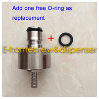 Stainless Carbonation Cap W 5 16 Barb Ball Lock Type Fit Soft Drink PET Bottles Homebrew