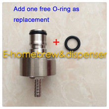 """Stainless Carbonation Cap 5/16 inch"""" Barb, Ball Lock Type, fit soft drink PET bottles, Homebrew Kegging"""""""