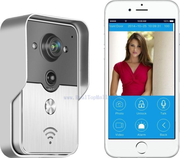 2015 Popular WiFi Wireless Video Door Phone Two Way Intercom Peephole Camera PIR IR Night Vision Android IOS Home Security d114b smart home 1v2 wireless intercom one to two video door phone 2 4g digital pir detection video door peephole camera