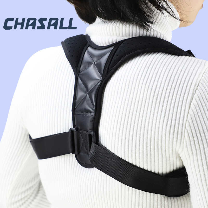 Chasall houding corrector voor vrouw man terug brace korset voor rugpijn schouder taille ondersteuning riem correctie gezondheidszorg