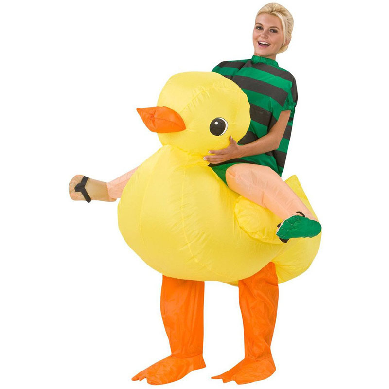 Duck Unisex Adult Fancy Inflatable Cosplay Costumes Ride on Animal Novelty Toys Halloween Christmas Carnival Easter Party Props clown inflatable costumes halloween witch party stage clothes for men women carnival father unisex dress up fancy stuffed toys